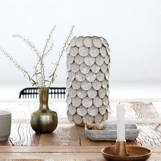 Vase Dots White