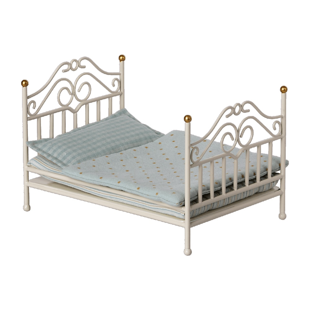 Vintage Bed Micro Off white