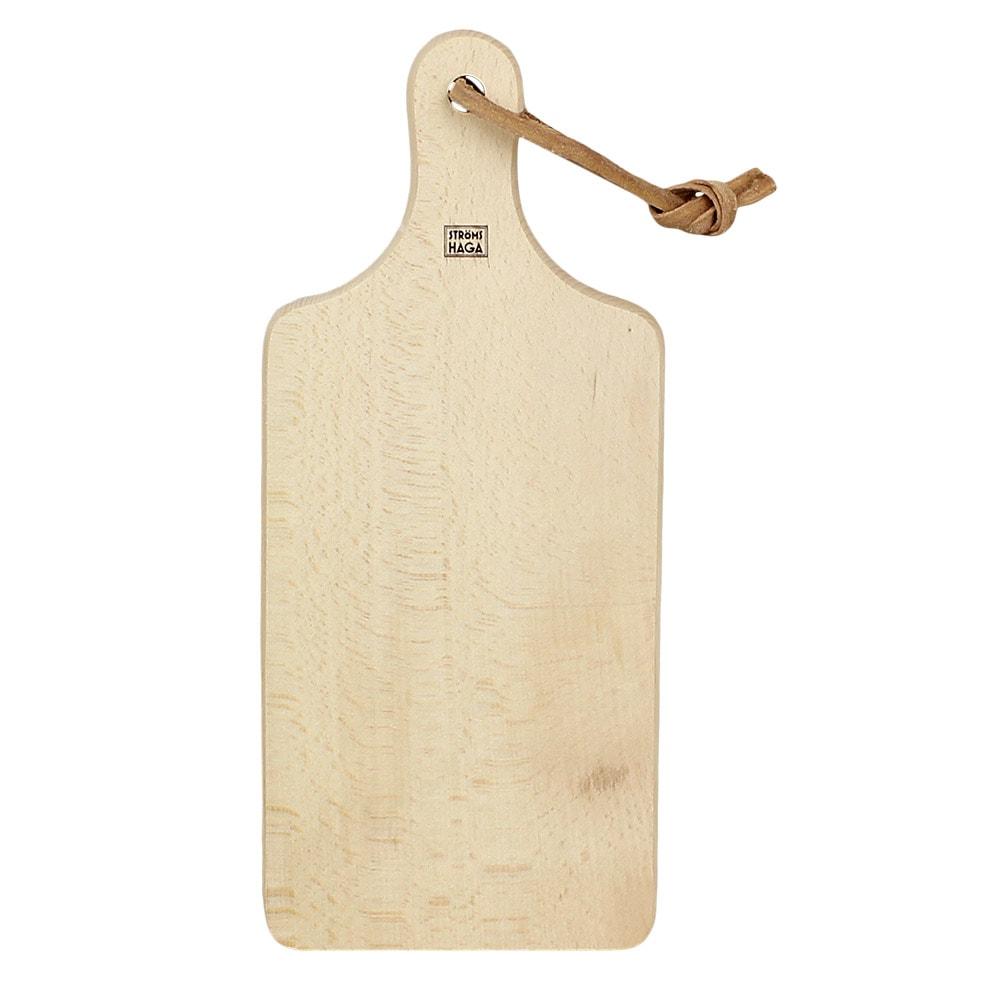 Cutting Board w. Leather Strap Small
