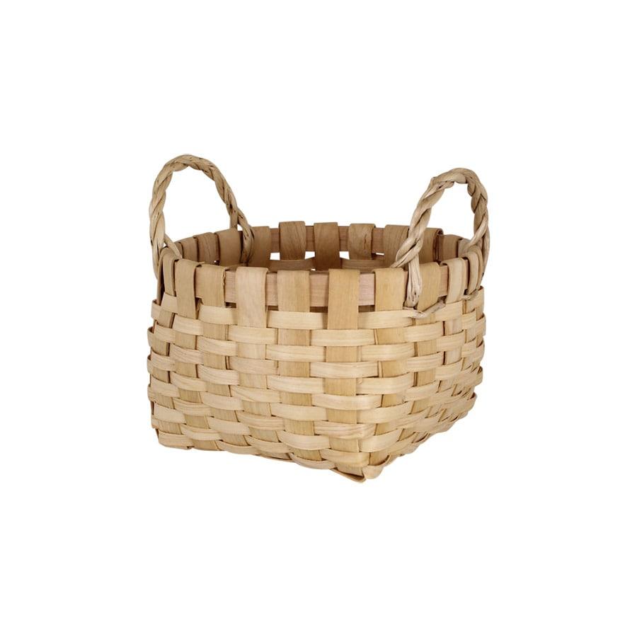 Wood Basket Kerstin Round Nature Small