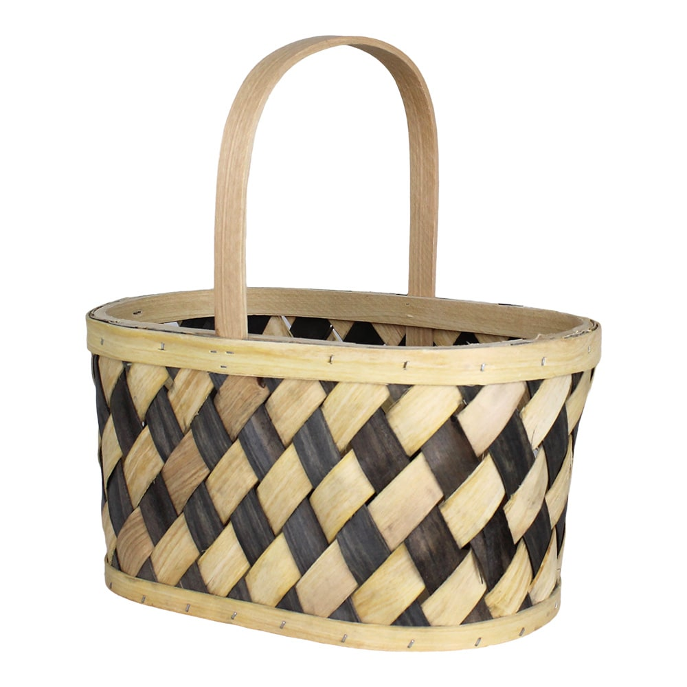 Wood Basket Vera Grey/Nature Medium