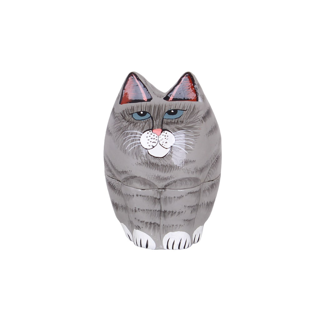 Lacquered Box Cat Small