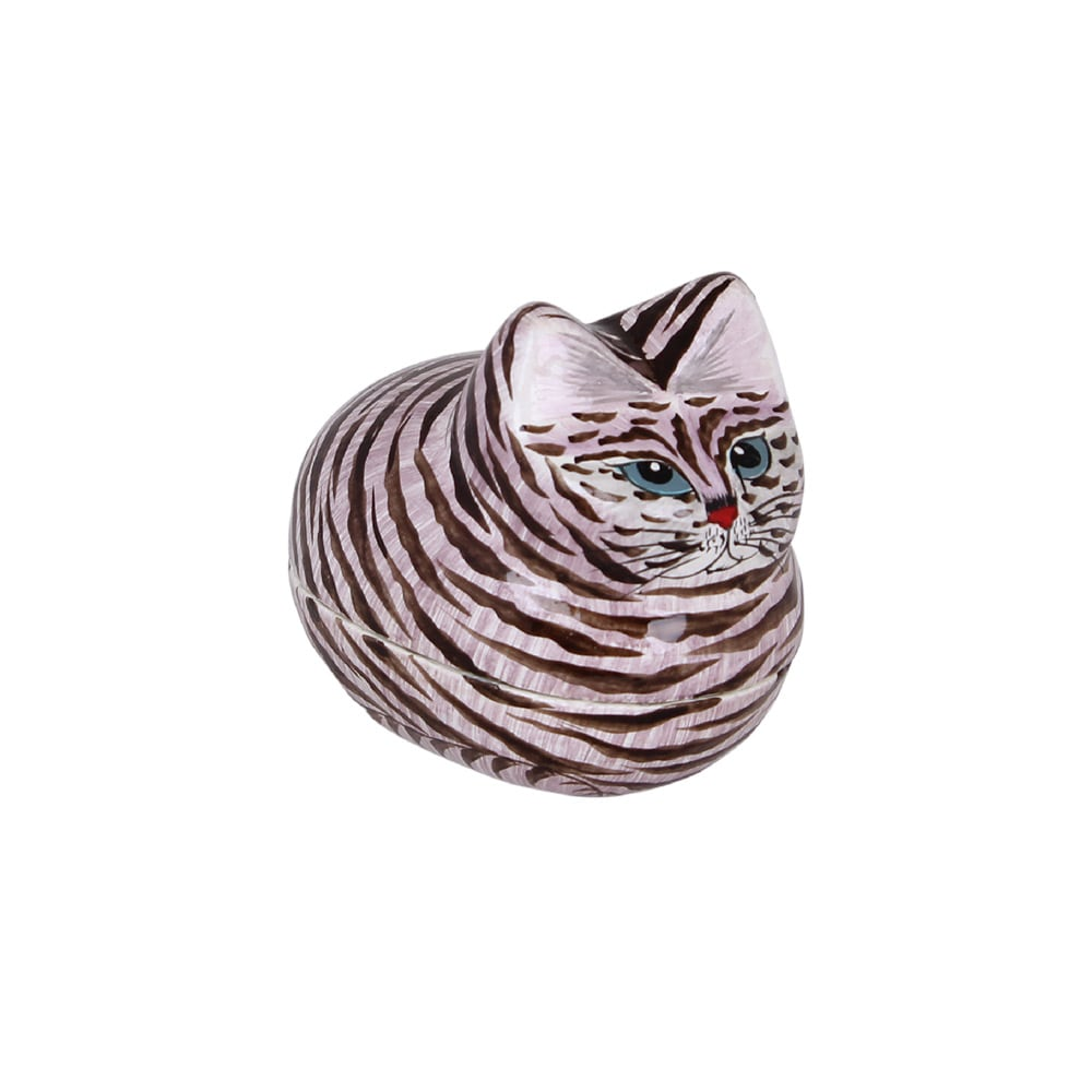 Lacquered Box Lying Cat Small