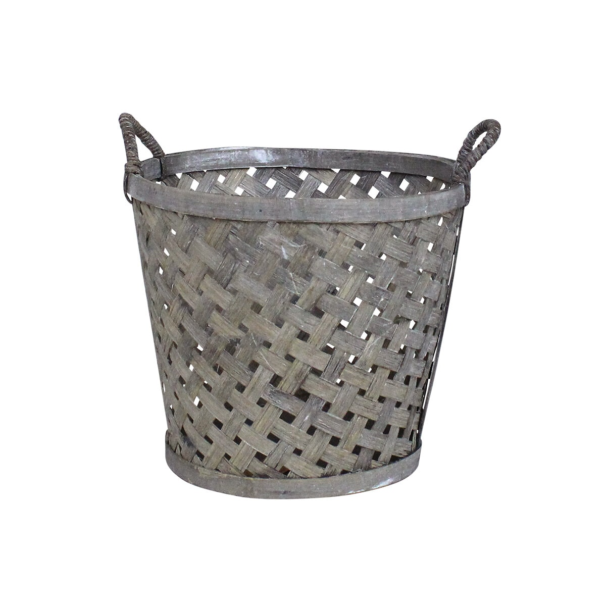Coned Basket w. Handle Ida Small Grey