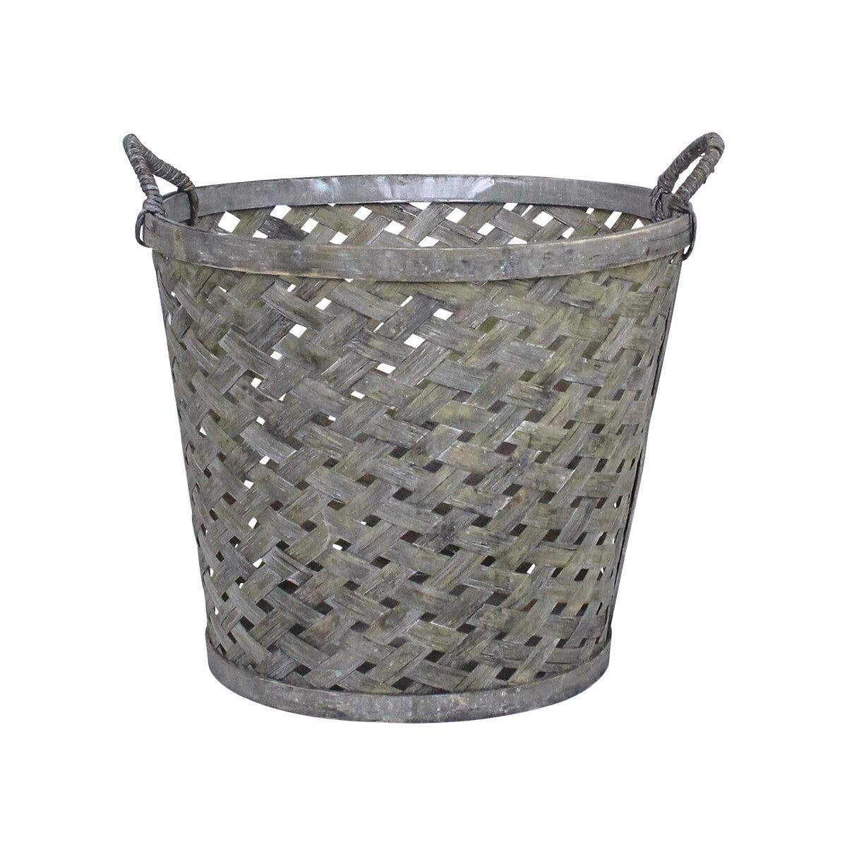 Coned Basket w. Handle Ida Medium Grey