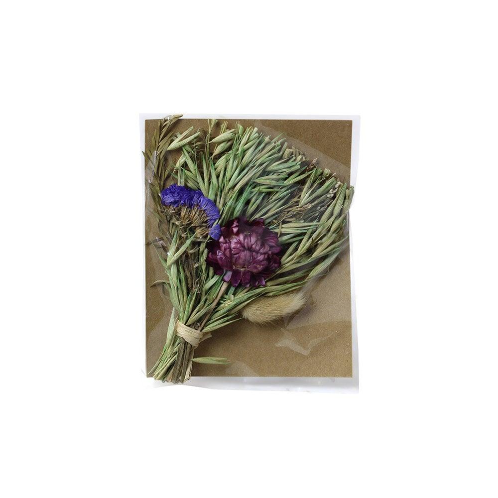 Mini Bouquet w. Greeting Card Purple