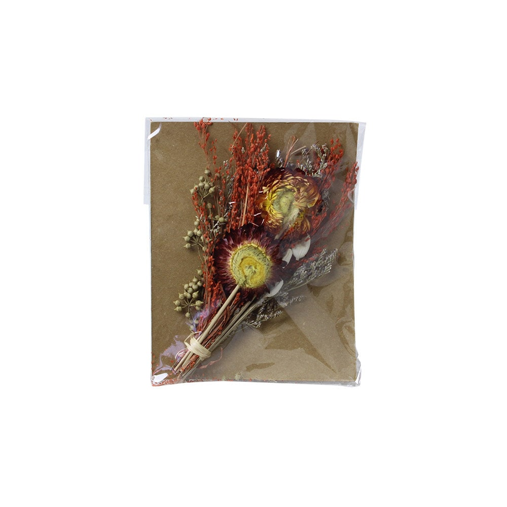 Mini Bouquet w. Greeting Card Orange