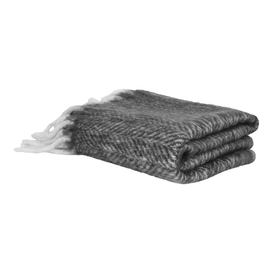 Wool Plaid Grey w. Light Fringes