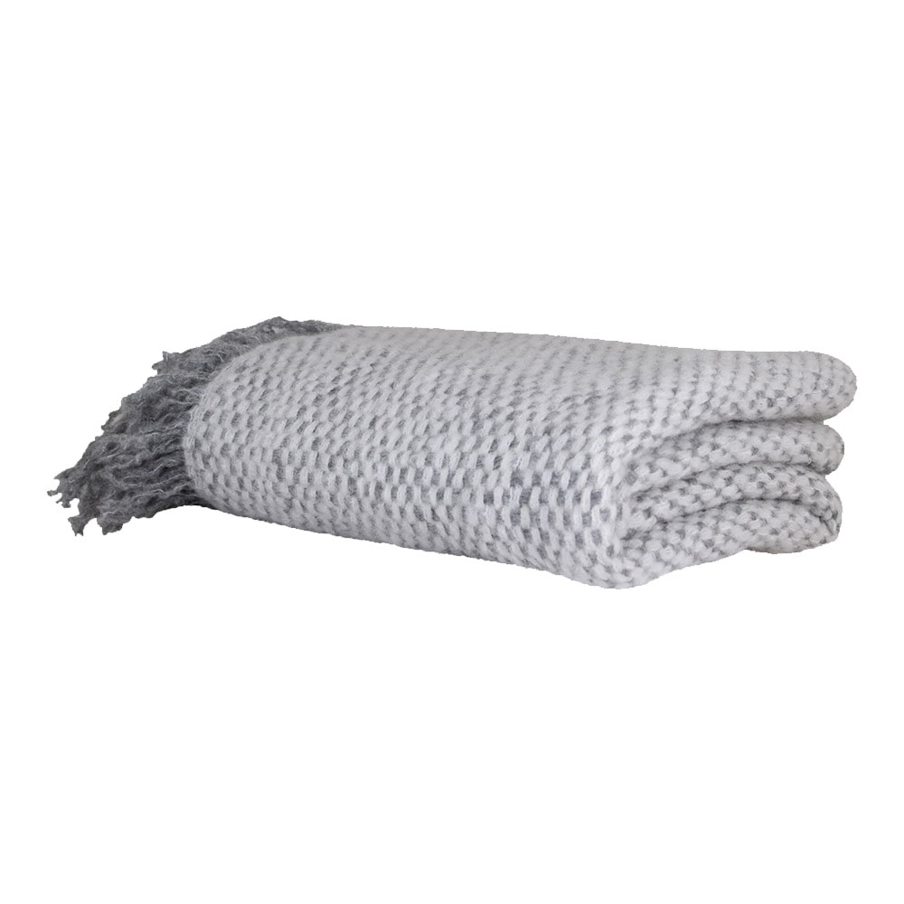 Wool Plaid Emil Grey/White