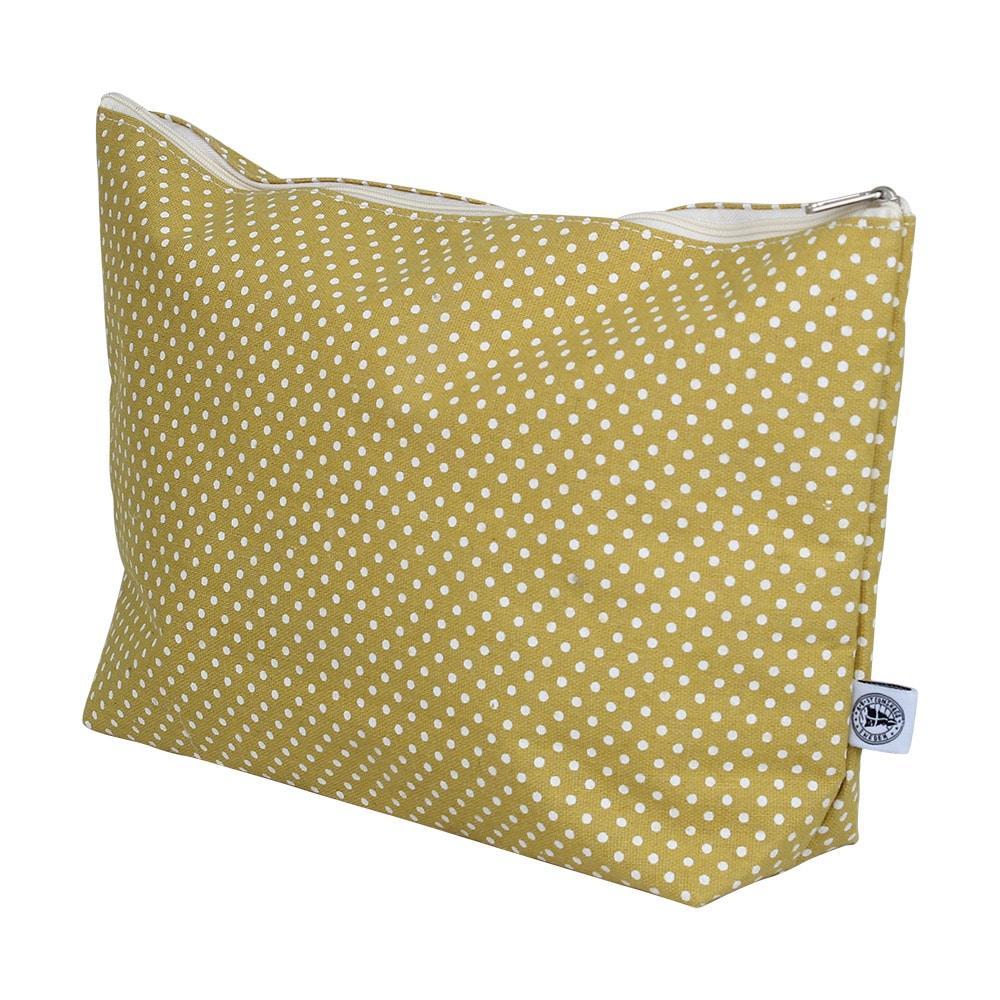 Toilet Bag Dot Yellow Large