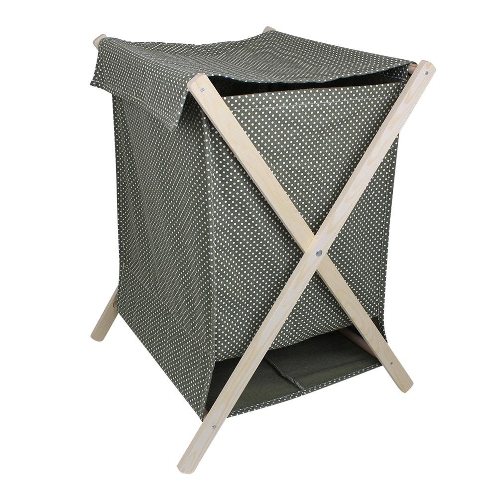 Laundry Basket Dot Green