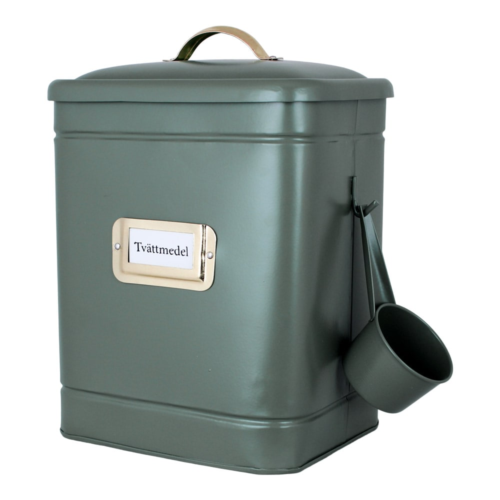 Tin Hilma Washing Powder Green/Brass