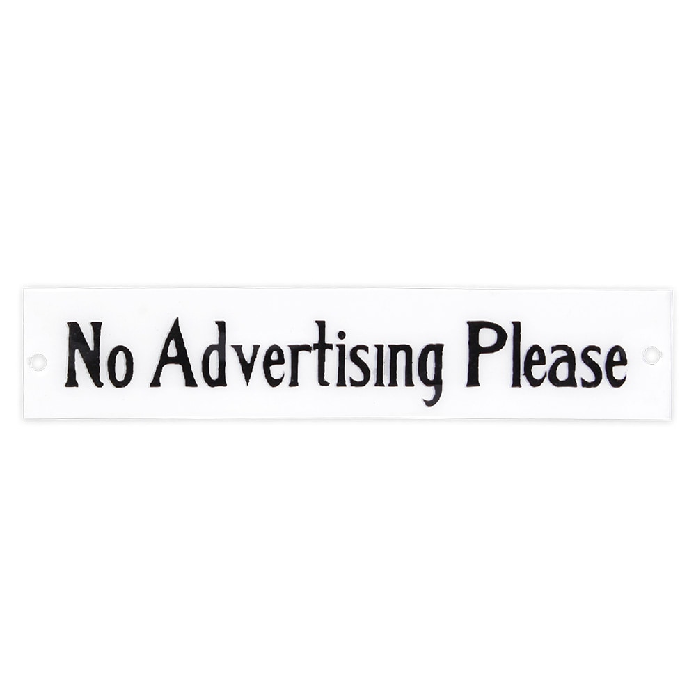 Sign No Advertising