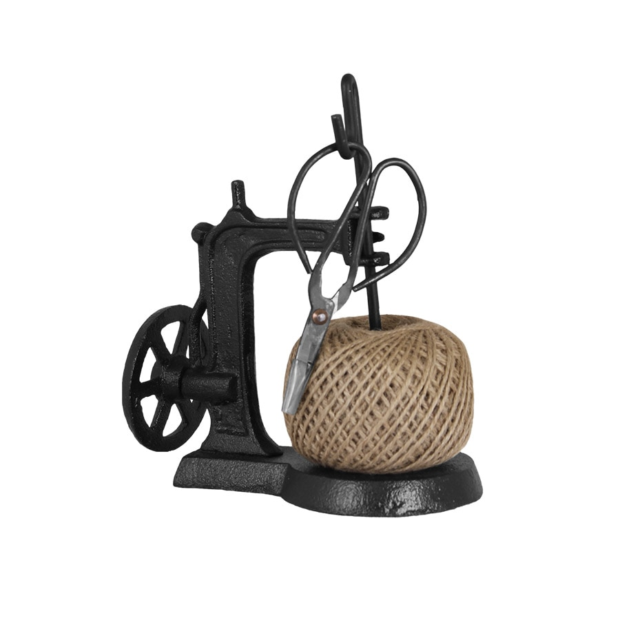 Twine Holder Sewing Machine Iron w. Scissors