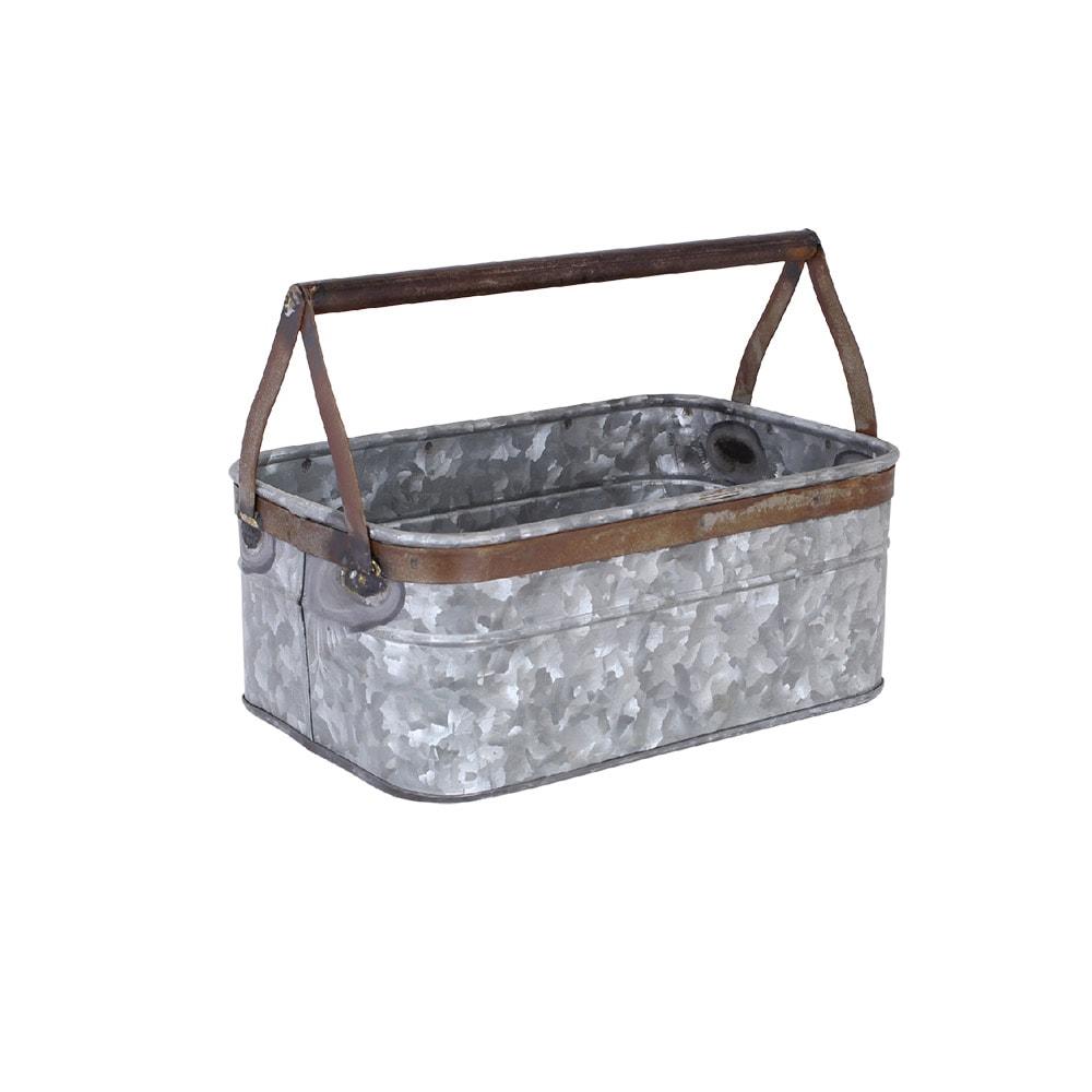Tray w. Handle Small Zinc/Rust