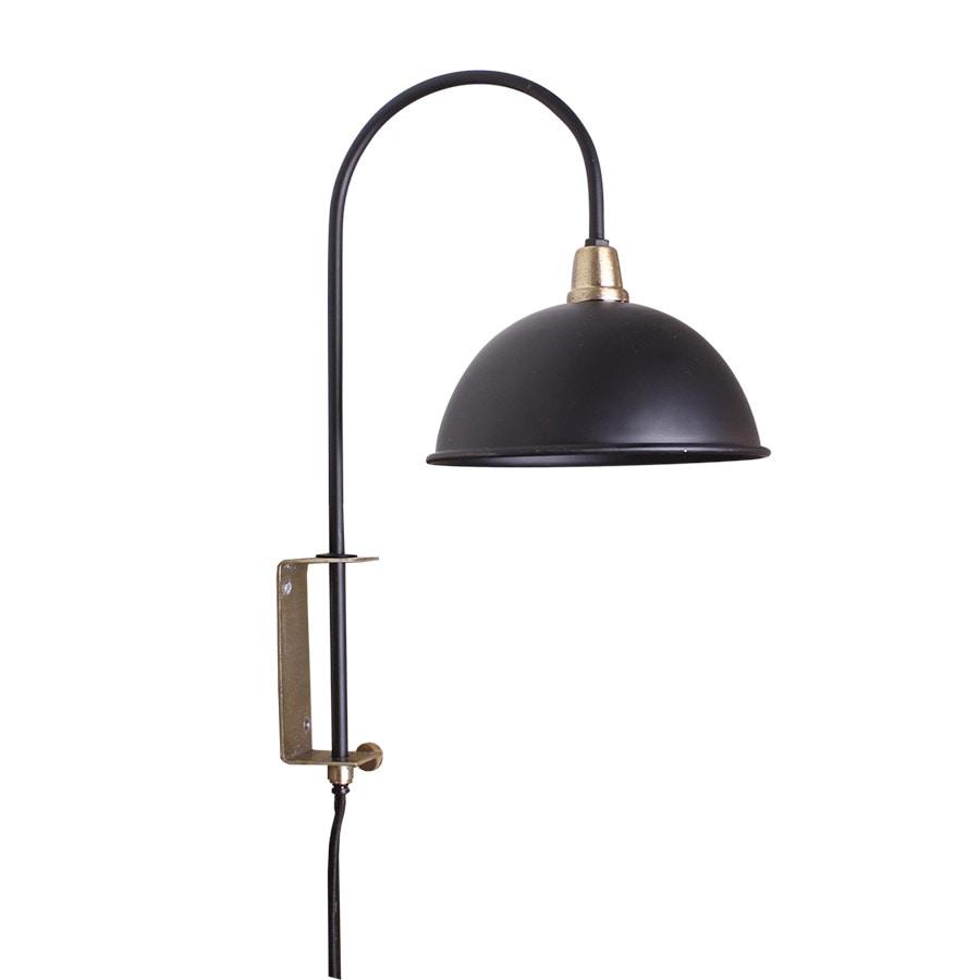 Wall Lamp Pelle Black/Brass