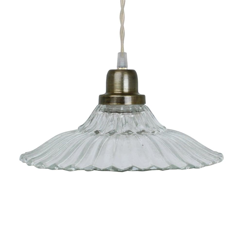 Pendant Lamp Gunilla Wide Clear/Antique Brass