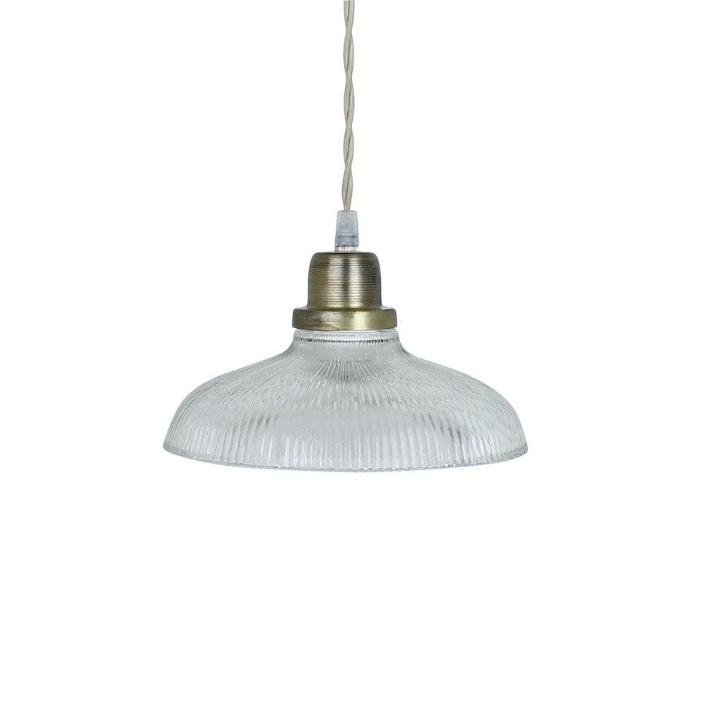 Pendant Lamp Greta Stripe Clear/Antique Brass