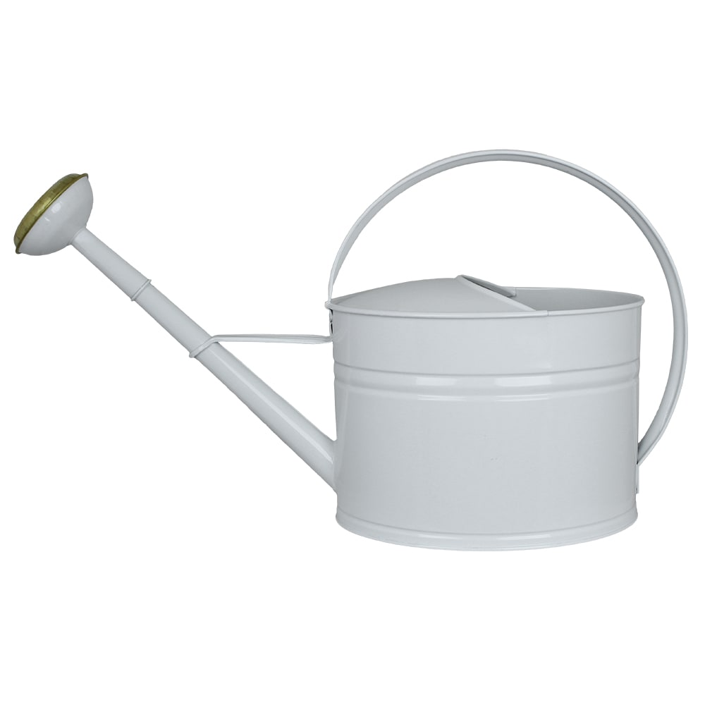 Watering Can Oval White 7L