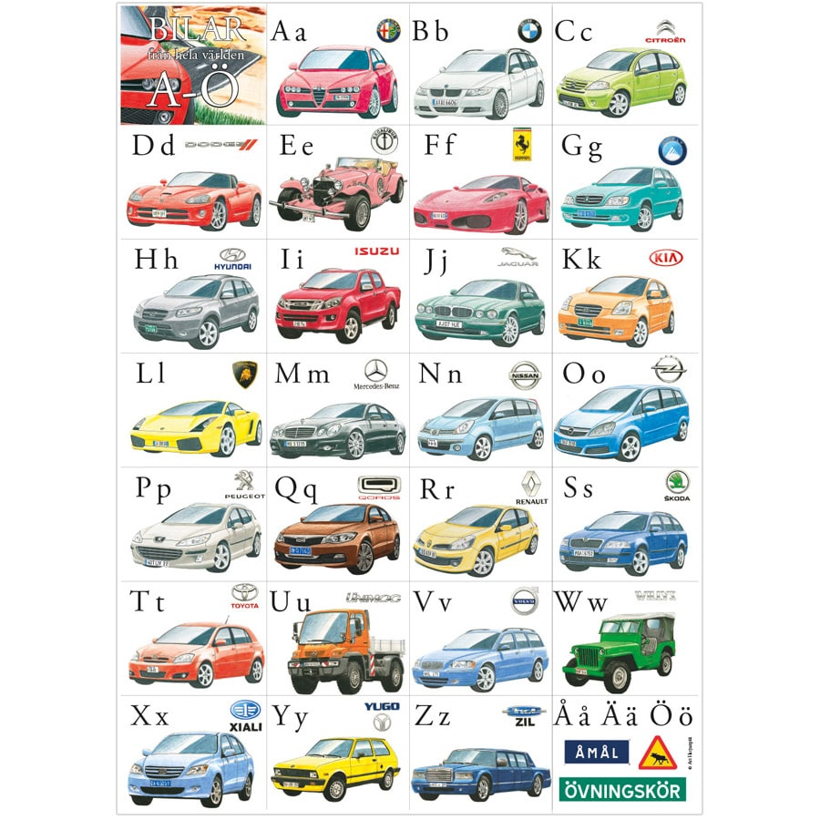 Poster ABC Cars