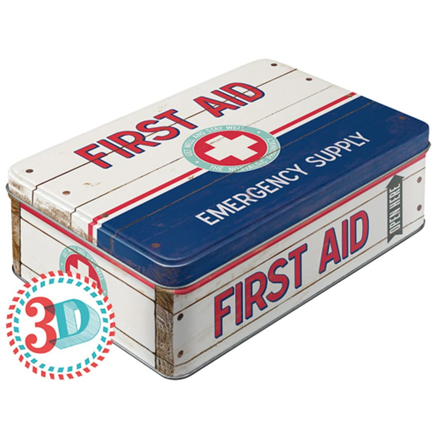 Tin First Aid Emergency Supply