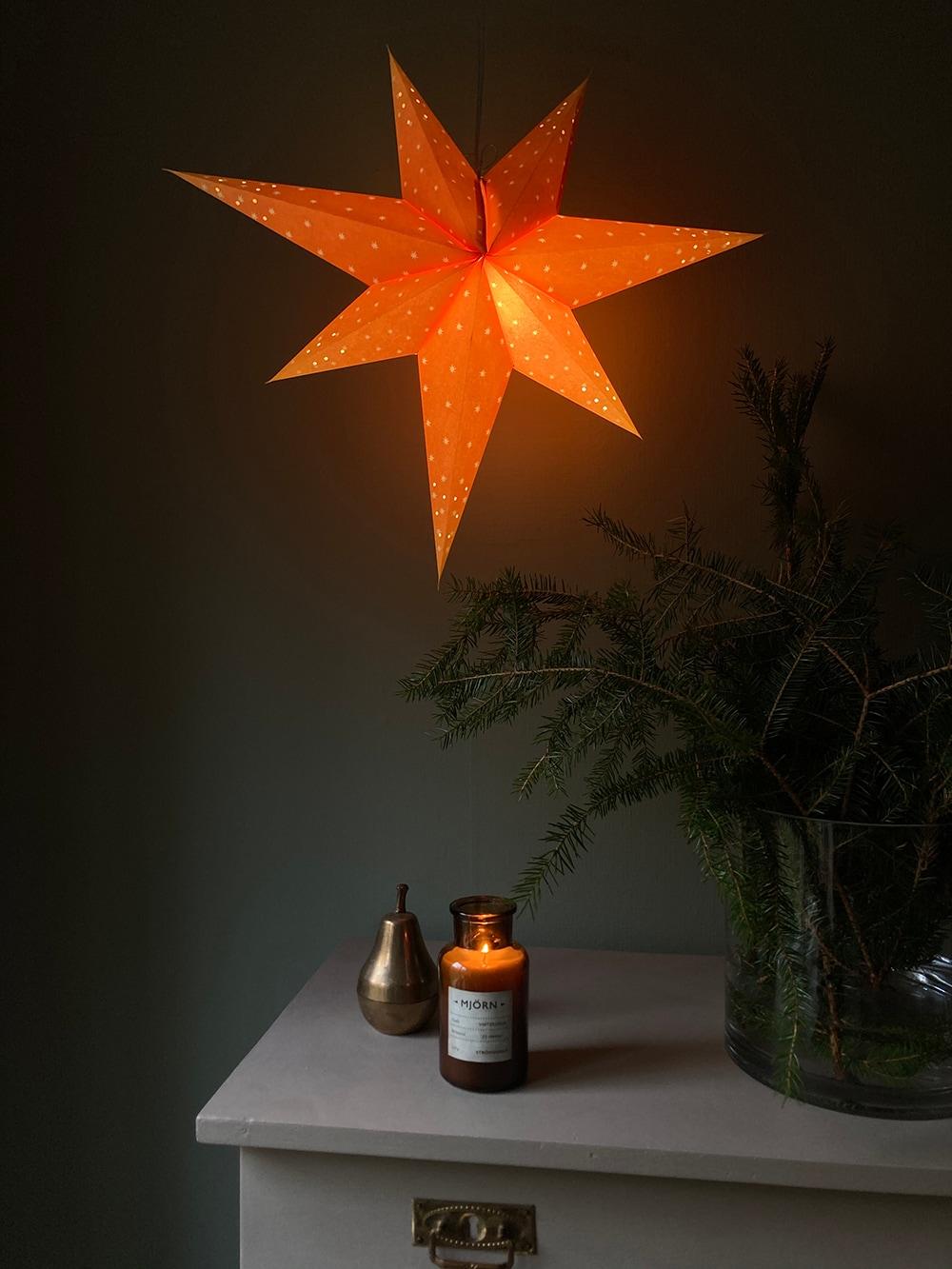 Advent Star Orange