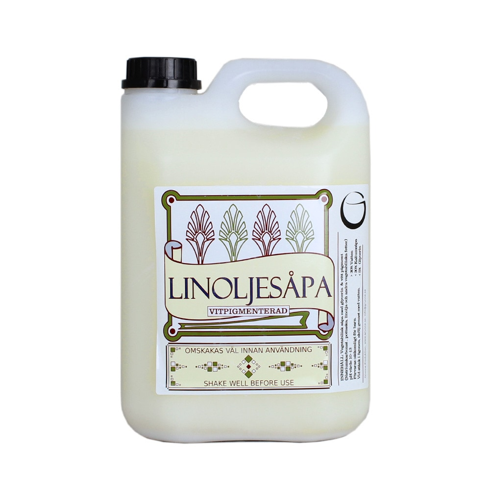 Linseed Oil Soap White Pigmented 2,5 L