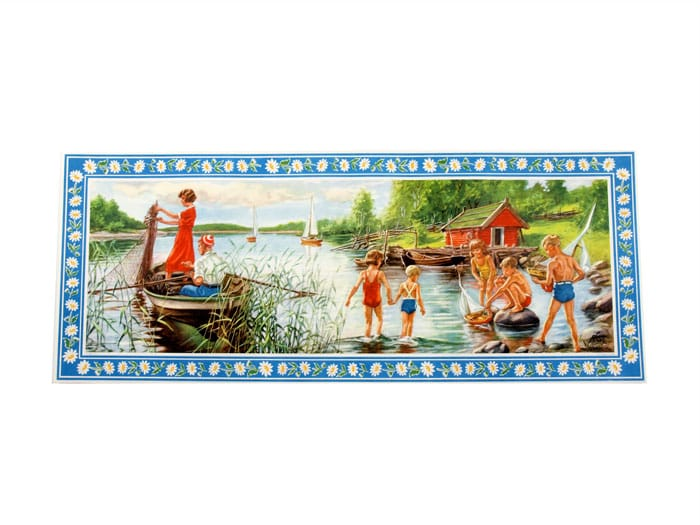 Tapestry Swimming in the lake No. 10