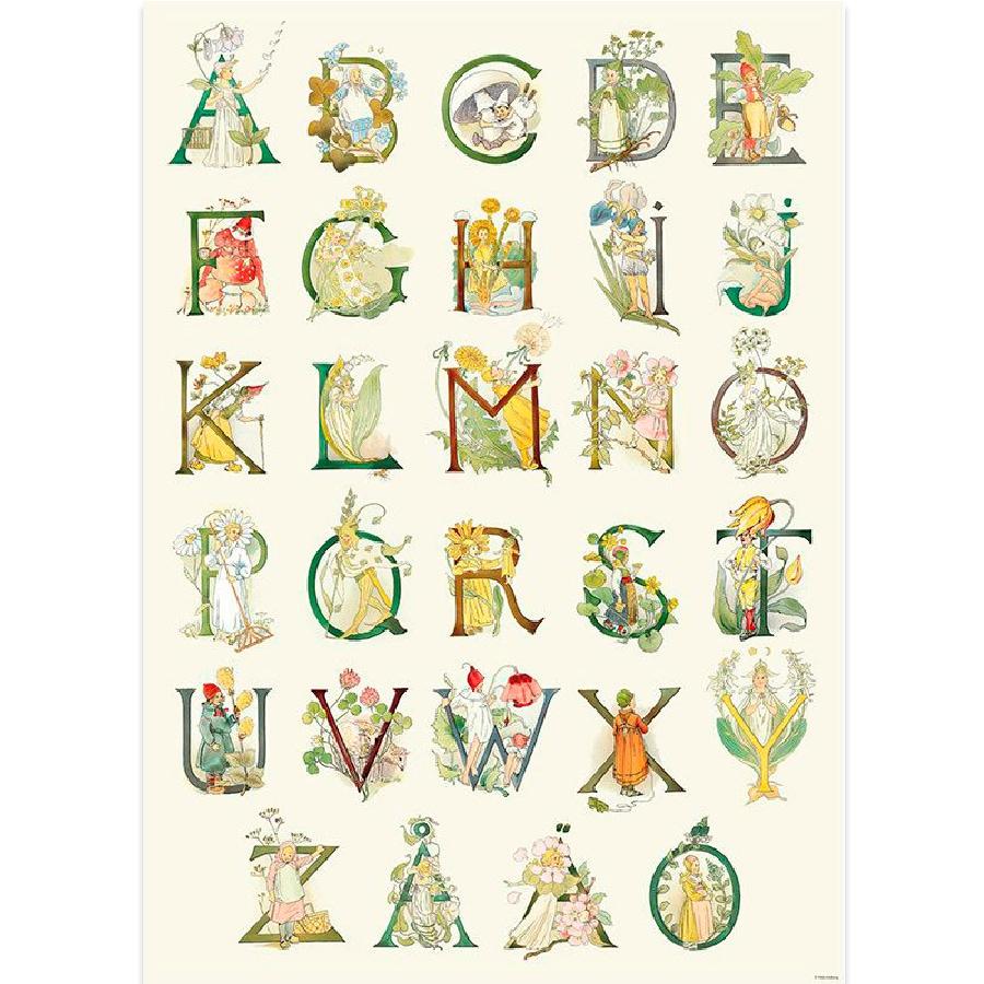 Poster Flower Alphabet