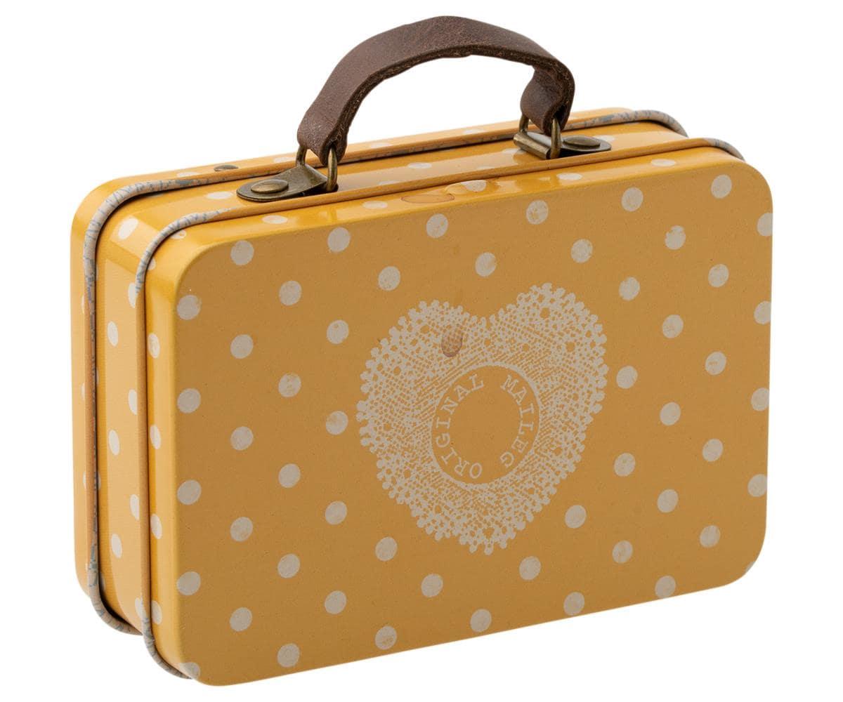 Suitcase Yellow Dot