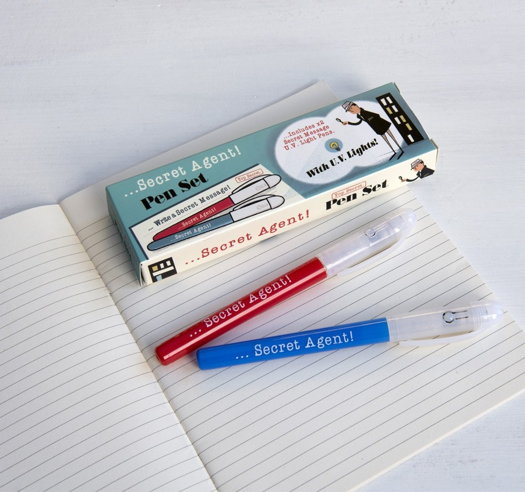 Set Of 2 Secret Agent Spy Pens